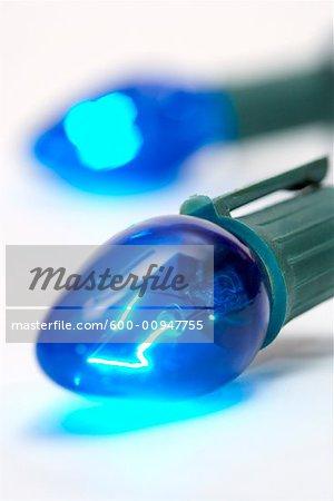 Lumières de Noël bleu