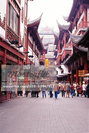 Shopping District, Shanghai, Chine