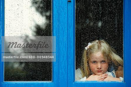 Portrait of Girl in Window