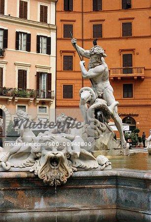 Fontaine de Neptune, Rome, Italie