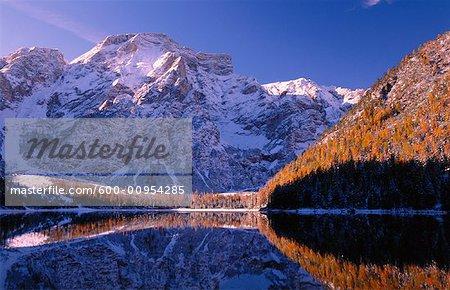 Lago di Braies, Tyrol du Sud, Dolomites, Italie