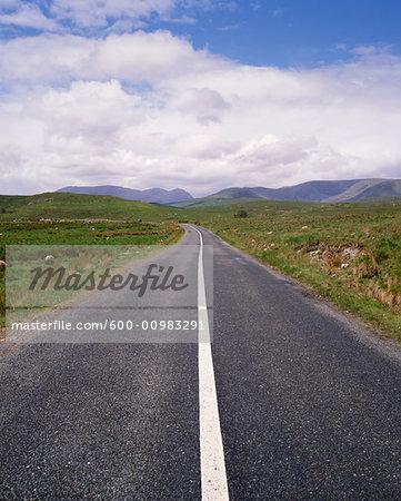 Road through Countryside, Connemara, Ireland