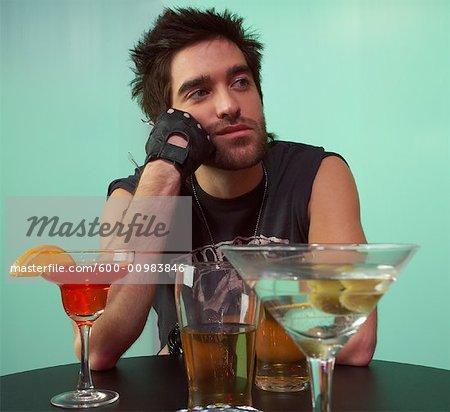 Portrait of Man at Bar