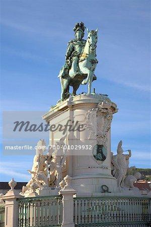 Statue of King Jose I, Praca do Comercio, Lisbon, Portugal