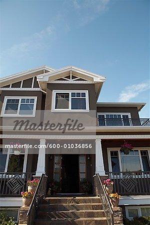 Maison extérieur, Vancouver, Colombie-Britannique, Canada