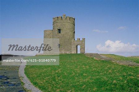 Castle on cliffs, Cliffs of Moher Republic of Ireland