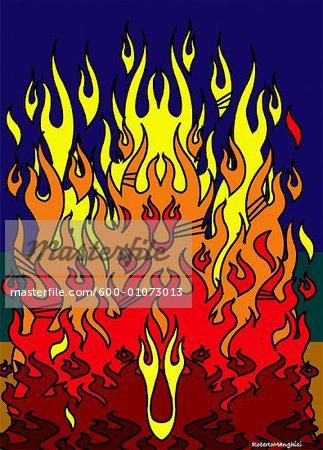 Illustration du feu