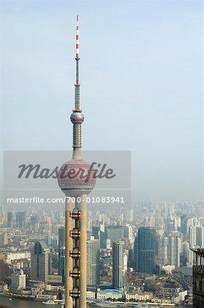 Oriental Pearl Tower and Huangpu River, Shanghai, China