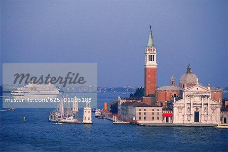 Cathedral at the waterfront, St. Mark's Cathedral, San Giorgio Maggiore, Venice, Veneto, Italy
