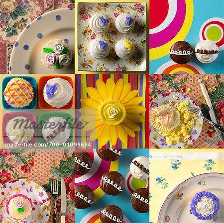 Vielzahl von Cupcakes