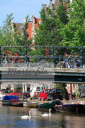 Bridge Over Canal, Amsterdam, Hollande