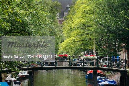 Bridges Over Canal, Amsterdam, Holland