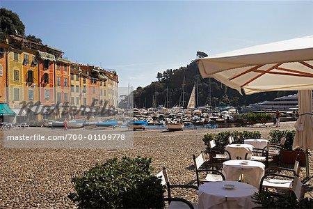 -Café en plein air, Portofino, Italie