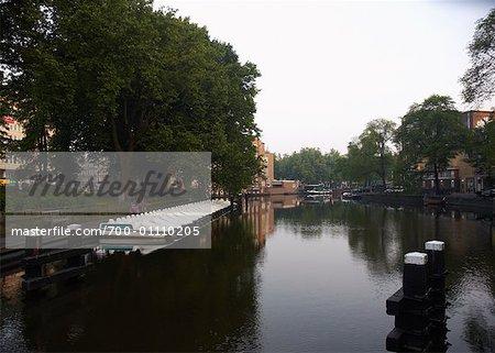 Canal à Amsterdam, Pays-Bas