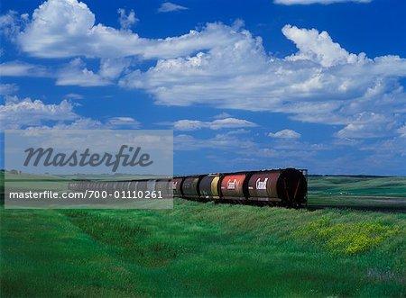 Grain voitures, Saskatchewan, Canada