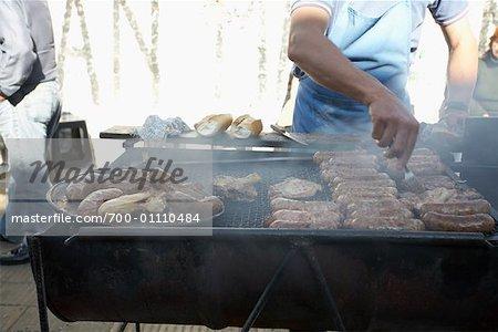Barbecue in La Boca, Buenos Aires, Argentina