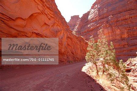 Route traversant le Canyon, Moab, Utah