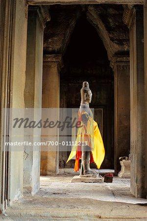 Statue de huit armées Bouddha, dieu Vishnu, Angkor Wat, Siem Reap, Cambodge