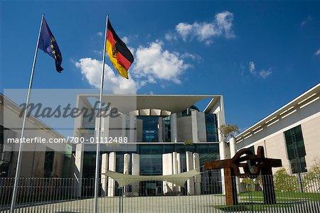 Entrance to Bundeskanzleramt, Berlin, Germany