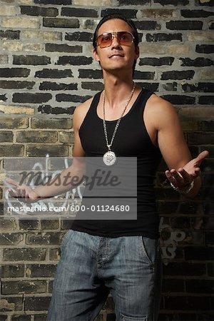 Portrait of Rapper