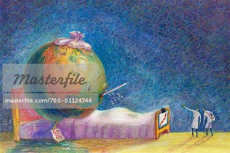 Illustration du monde malade