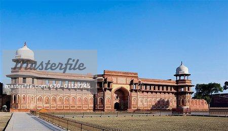 Facade of a fort, Jahangiri Mahal Agra Fort, Agra, Uttar Pradesh, India