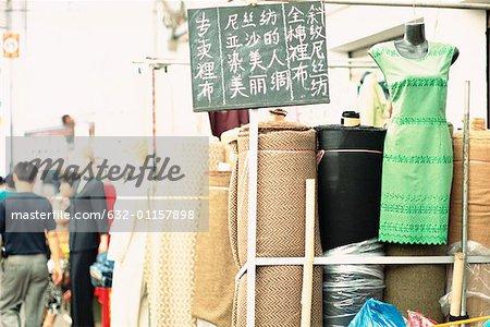 China, Shanghai, cloth market
