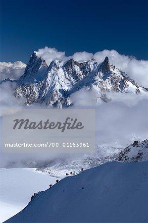 Vue du Grand Jorass d'Aiguille de Midi, Chamonix, France