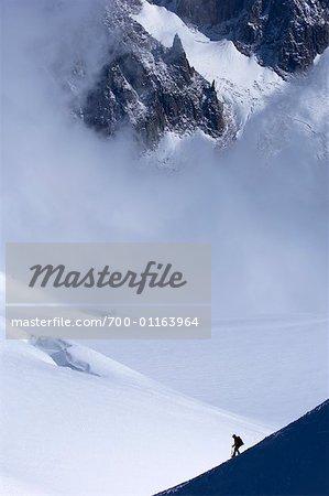 Mountian grimpeur, Alpes, Chamonix, France