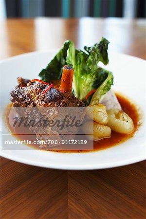 Vorbereitete Rindfleisch-Gericht
