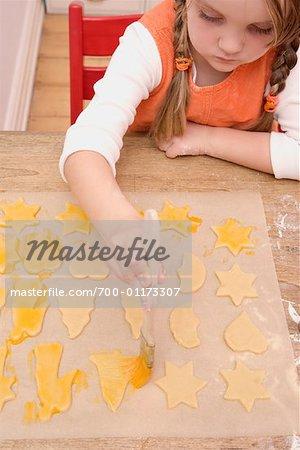Girl Decorating Christmas Cookies