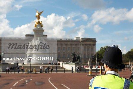 Policeman Outside Buckingham Palace, London, England