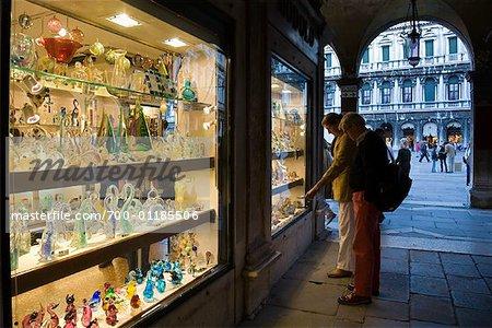 Tidsmæssigt Glas Shop, Insel Murano, Venedig, Italien - Stockbilder FT-43