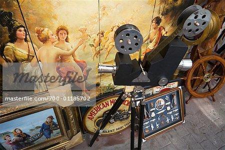 Antiques at Flea Market, Athens, Greece