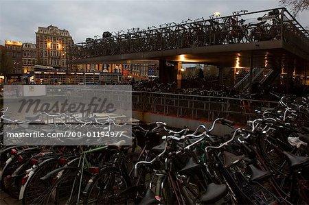 Bikes Parked, Amsterdam, Netherlands