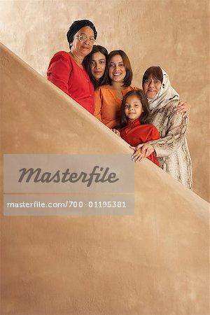 Mehrgenerationen-Familie-Portrait
