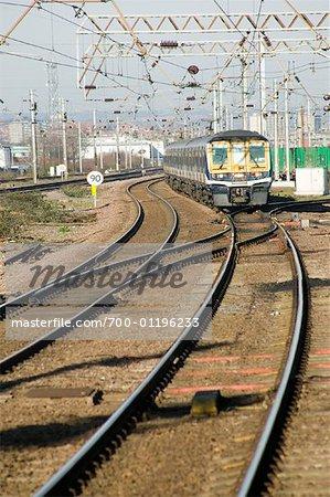 Train et la voie ferrée