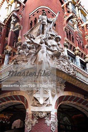 Detail der Palau De La Musica Catalana, Barcelona, Spanien