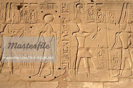 Détail du Temple d'Amon à Karnak, Louxor, Égypte