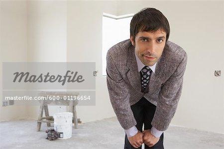 Portrait of Man in House