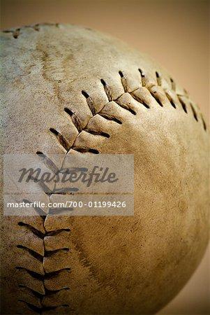 Gros plan du vieux Baseball