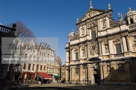 Exterior of Jesuit Church, Antwerp, Belgium