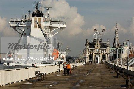 Ship in Harbour, Antwerp, Belgium