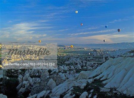 Ballons à Air chaud sur Göreme, Cappadoccia, Turquie