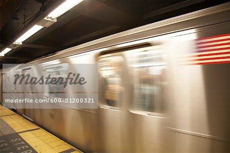 Subway Train, New York City, New York, USA