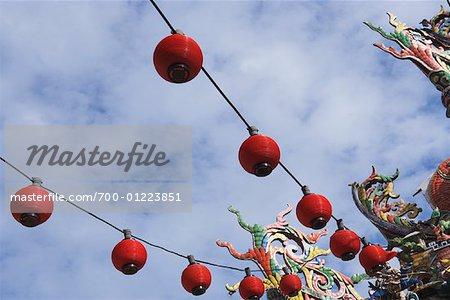 Rouge lanternes, Georgetown, Penang, Malaisie