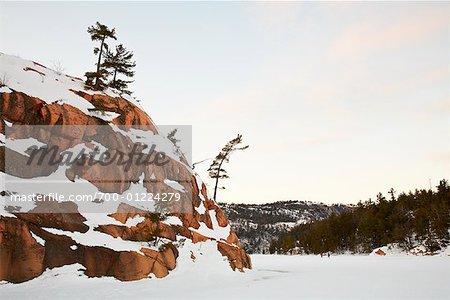 Killarney Provincial Park im Winter, Ontario, Kanada