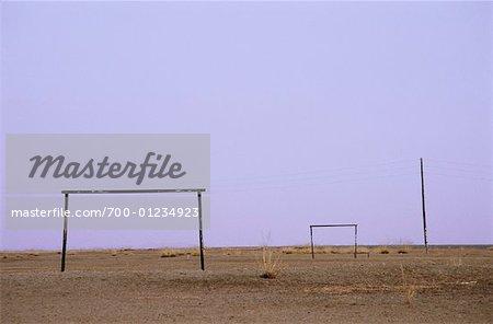 Terrain de soccer, Province d'Arkhangai, Mongolie