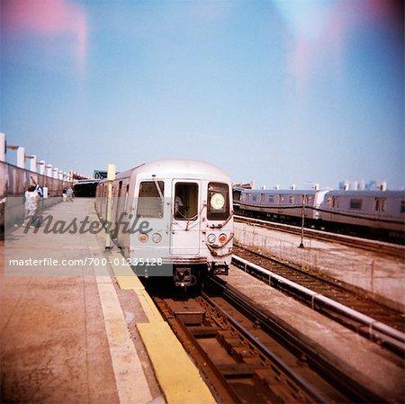 Train Station, Brooklyn, New York City, New York, USA