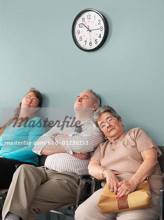 People Sleeping in Waiting Room